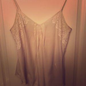 Cute white blouse tank